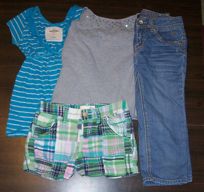 Girls Clothes size 10 10-12 Tops Shorts Capris Lot Abercrombie Justice Old Navy