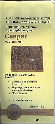 USGS BLM edition topographic map Wyoming CASPER 1979 mineral