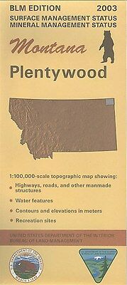 USGS BLM edition topographic map Montana PLENTYWOOD 2003 mineral