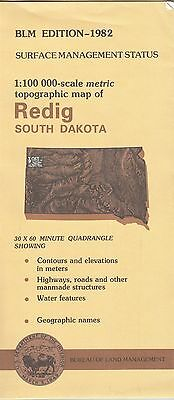 USGS BLM edition topographic map South Dakota REDIG 1982