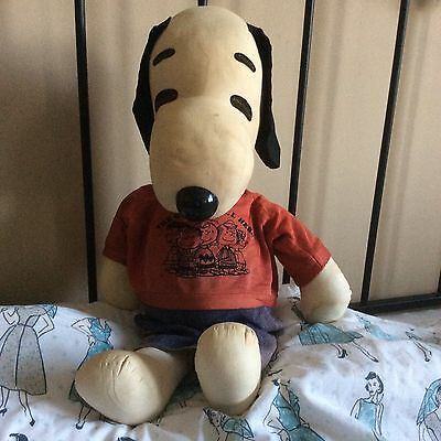 Vintage 1950s rare & collectable plush Peanuts Snoopy large soft toy