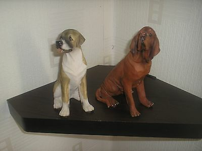 pair of dog figureens