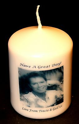 Candle Picture Cliff Richard Personalised Birthday Love Anniversary Unique #1