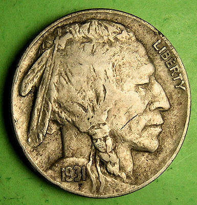 1931-S Buffalo Nickel has not been cleaned.