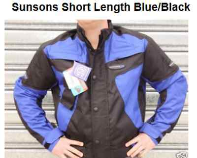 SUNSONS MENS  MOTORCYCLE ROAD JACKET NEW! XL RRP$199 blue waterproof armour