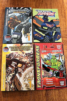 Transformers - Lot Of 4 Books - Graphic Novel Tpb Digest Size - Oop