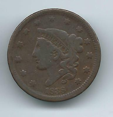 1838 Large Cent Bn   N4 ?