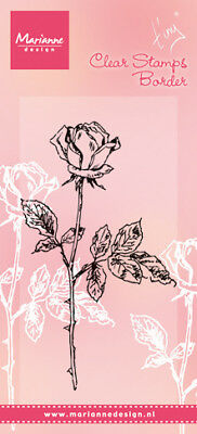 Marianne Design Tiny's Single Rose Clear Stamp TC0846