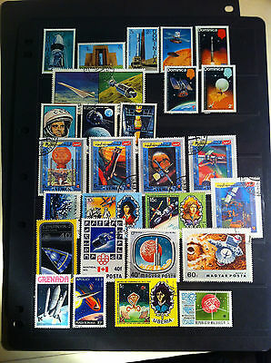 Space, spacecraft, satellites collection of 27 Different Stamps Dominica, Yemen