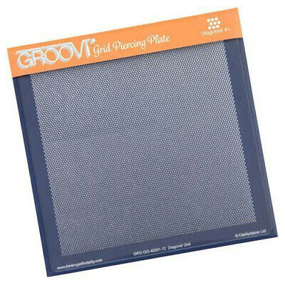 Claritystamp Groovi Diagonal Grid Parchment Piercing Plate GRO-GG-40201-12