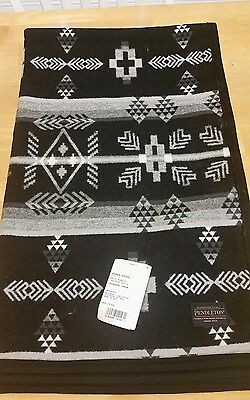 Pendleton Blanket Grayscale 64x59 Jacquard Throw Made in USA New with Tag