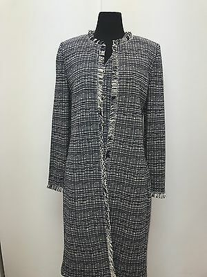 St John by Marie Gray Navy and White Dress Suit Size 8/10 NWT