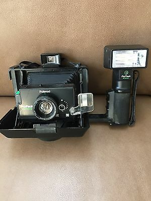 Vintage Polaroid ProPack Instant Camera With Flash And Strap