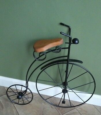 Vintage High Wheel Bicycle Plant Stand Rustic Primitive Plant Stand