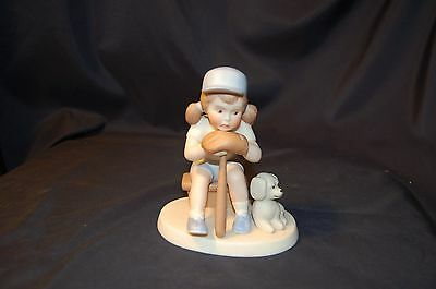 "Goebel figurine "" Benched"" no reserve must see!!"