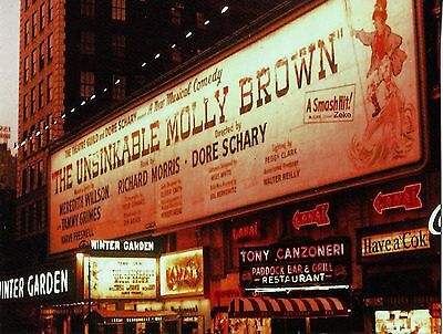 """Tammy Grimes """"UNSINKABLE MOLLY BROWN"""" Meredith Willson 1961 Broadway Postcard"""