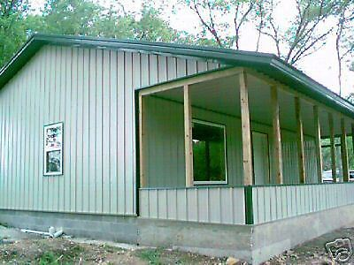 38X50 Post Frame ( Pole Barn ) Home House Plans E-Delivery Via Pdf Or Word File