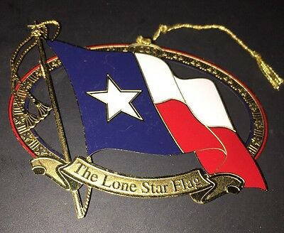 1998 Lone Star Flag Texas State Capitol Christmas Ornament