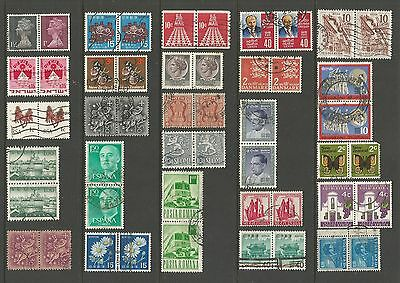 World Stamps - mixed collection, joined pairs No.25