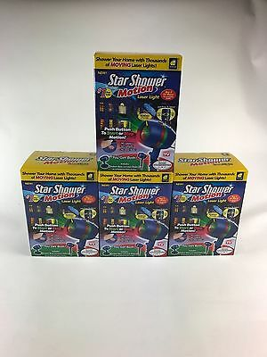 (4) Star Shower As Seen on TV Motion Laser Lights Star Projector BRAND NEW N BOX