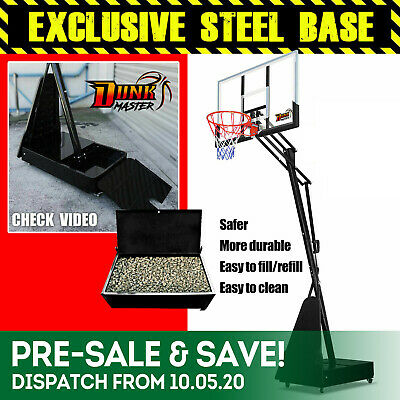 New Portable Basketball Stand / System - Net Ring Hoop Set Full Size Adjustable