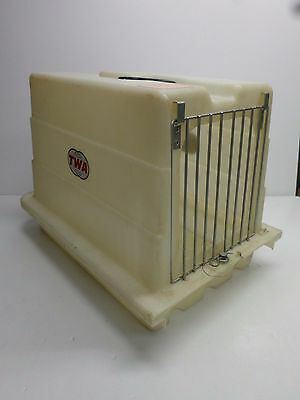 Vintage TWA AIRLINES PET CARRIER