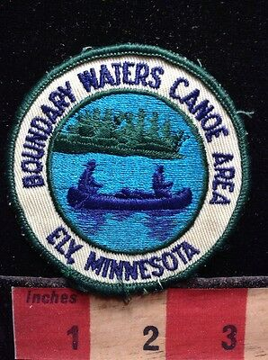 Vintage BOUNDARY WATERS CANOE AREA Ely Minnesota Patch 60Y2