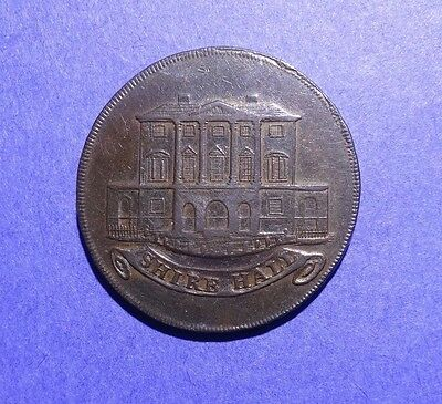 1794 Half Penny Token Shire Hall  King and Constitution