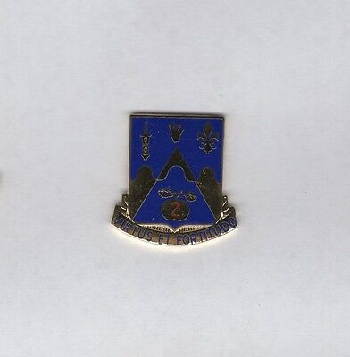 US Army 205th Armored Regiment Armor Tank crest DUI badge c/b G-23