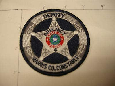 Harris County Constable Deputy Pct 4 Doc Jail Police Colorful State Texas Patch