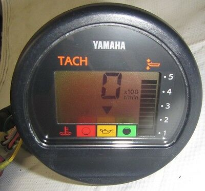 Yamaha Tachometer for 1994 & Newer Outboards - Good Working Condition Tach Gauge