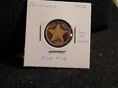Bahama Islands:   1972    1 Cent  Coin Proof   (Unc.)    (#3826)  Km # 16