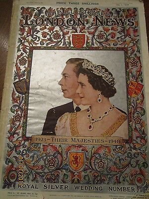 1948 London News Magazine Royal Silver Anniversary Queen Mary King George George