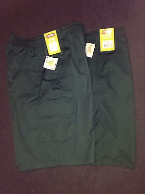 2 x STUBBIE SCHOOL SHORTS, BOTTLE GREEN, SIZE 16, BNWT