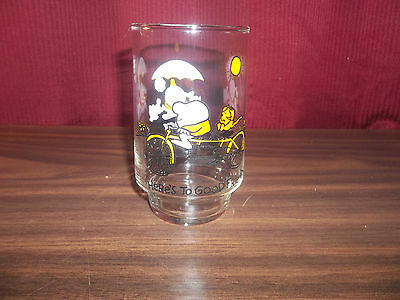 Ziggy Heres To Good Friends Collector Glass  vintage lot#1182