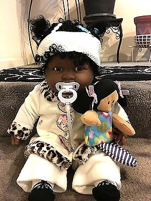 New 20 Inch Berenguer Africa-American Baby girl with natural hair