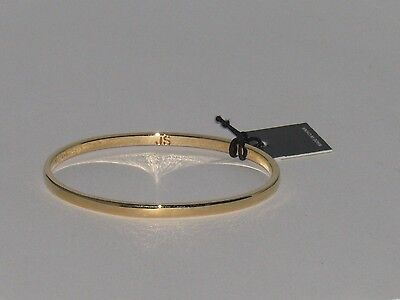 """Jules Smith 14 KT Gold Tone Plated Bangle Bracelet with Tag 3 """" x 3/8 """""""