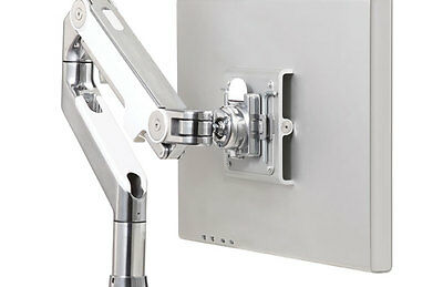 Humanscale M2 Swivelling Wall Bracket / Manual Table Clamp / Polished