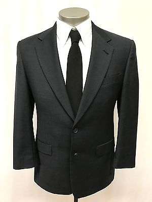 mens blue windowpane AUSTIN REED 2pc PANT SUIT jacket two button wool 38 S