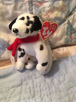 "TY Jingle Beanie Babies ""DIZZY"" Christmas DOG ORNAMENT With Tag"