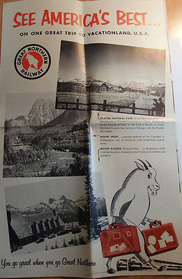 1940's See America's Best Travel Brochure From Great Northern Railway