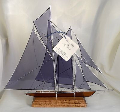 Made-in-the-USA 3-D Stained Glass Replica of 1910 Racing Schooner the Westward