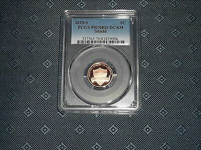 2015 S 1C Lincoln Cent Shield Pcgs Pr70Rd Dcam