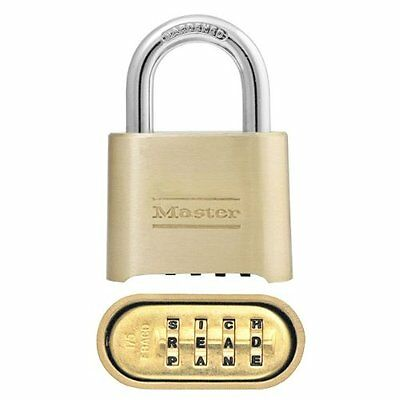 Master Lock 175DWD Resettable Set-Your-Own Combination Word Combination Lock, Di