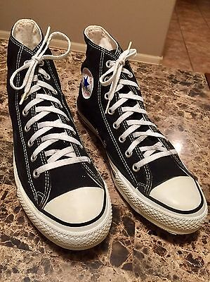 Vintage Early 90's Converse All Star Black Size 11 Pre Owned Made In USA