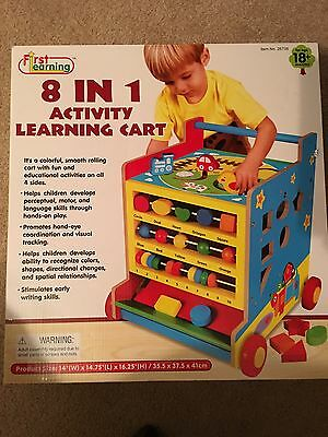 8 in 1 Activity Learning Cart w/ mazes and more