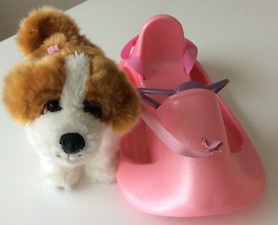 Zapf Creation Baby Born Sled With Walking Pull Along Dog- Great Preloved Cond.