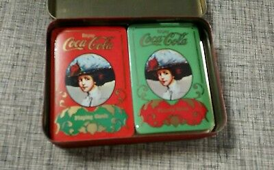 VINTAGE COCA~COLA COKE Playing Cards in Tin
