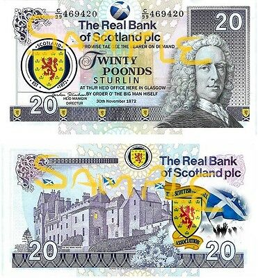 Special Edition Novelty Scottish Football Smakeroonies Bank Notes