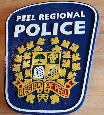 Police Peel 3D routed carved  wood patch plaque sign Wooden